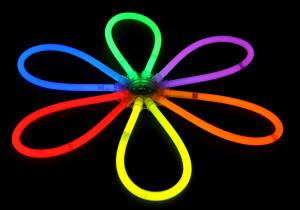 ozdoba svítící květina